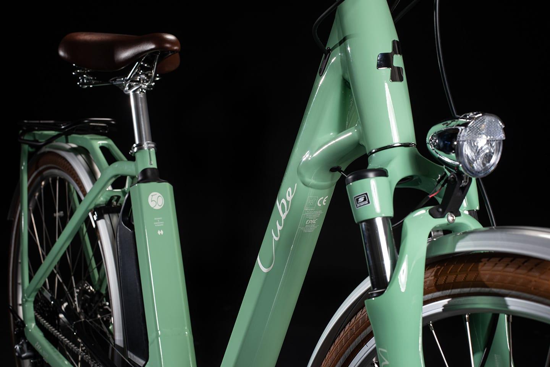 Cube Ella Ride Hybrid 400 Green n White 2020 - Frame
