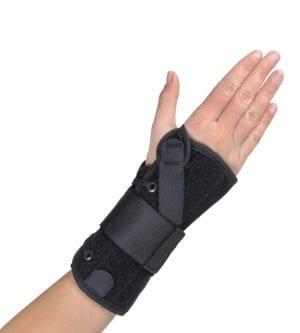 Hand wearing a Hely & Weber Suede Wrist Wrap