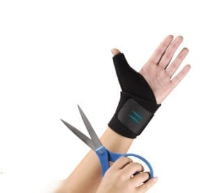 Hand wearing the Hely & Weber Trimmable Thumb