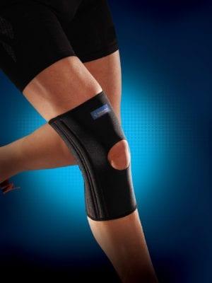 A knee wearing a Thuasne Reinforced Neoprene Knee Support