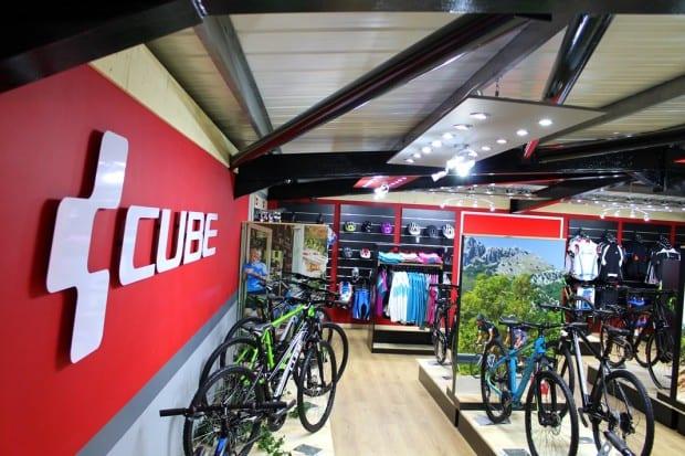 A bike shop selling Cube bikes