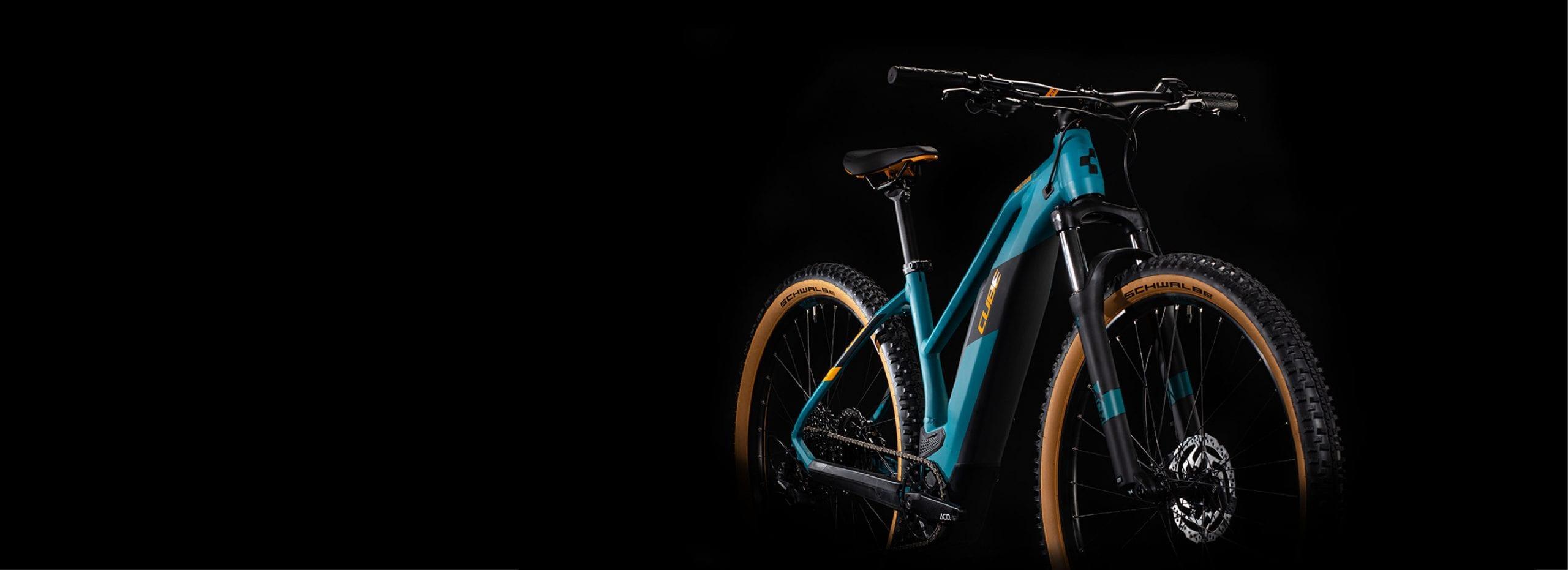 Cube Reaction Hybrid Bike with Black Background